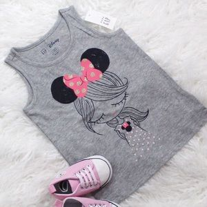 New Baby Gap Disney Minnie Mouse Graphic Tank Top